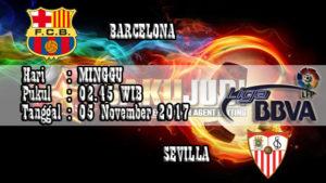 Prediksi Bola Barcelona vs Sevilla 05 November 2017