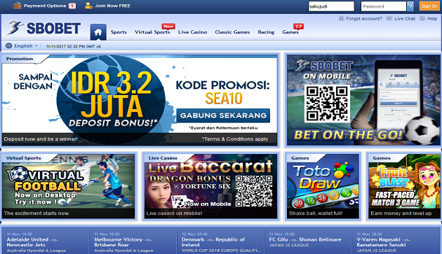 Link Alternatif Sbobet & Maxbet