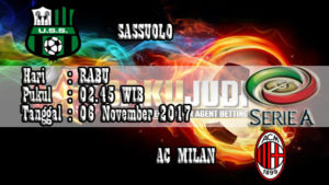 Prediksi Bola Sassuolo vs AC Milan 6 November 2017
