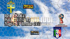 Prediksi Kualifikasi Piala Dunia Sweden vs Italy 10 November 2017